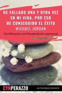 Imágenes de superacion personal en CynPerazzo.com | He fallado una y otra vez en mi vida, por eso he conseguido el éxito - Michael Jordan