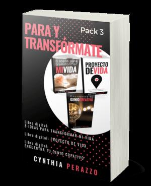 Pack3: PARA Y TRANSFÓRMATE | Especial BLACK FRIDAY en CynPerazzo.com